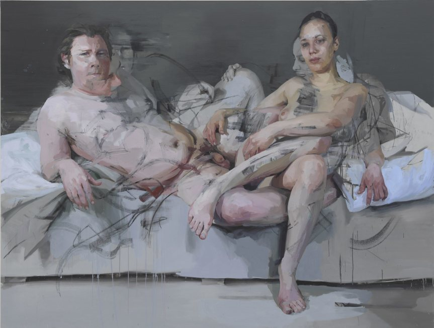 Jenny Saville Intertwine Oil on canvas 86 7/16 x 114 3/16 x 2 9/16 inches 219.5 x 290 x 6.5 cm 2011 - 2014 https://media.timeout.com/images/101612851/image.jpg