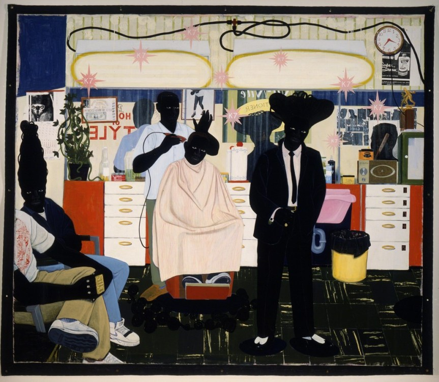 Kerry James Marshall De Style 1993 https://d32dm0rphc51dk.cloudfront.net/imeBS53GeyiGNZWtbhHnhA/larger.jpg