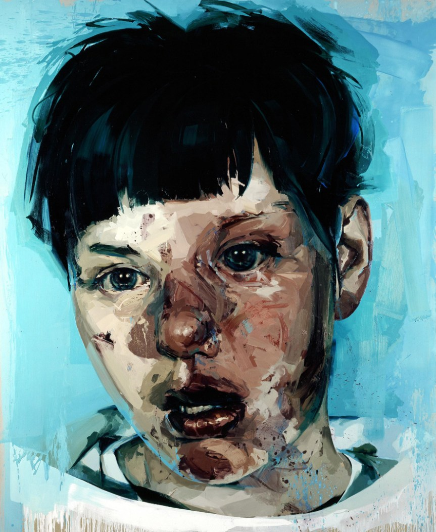 Jenny Saville Stare oil on canvas 120 x 98 1/2 in. (304.8 x 250.19 cm) 2004-05