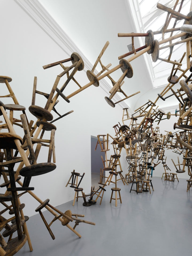 http://www.thisiscolossal.com/2013/06/bang-ai-weiweis-latest-installation-made-from-886-antique-stools/