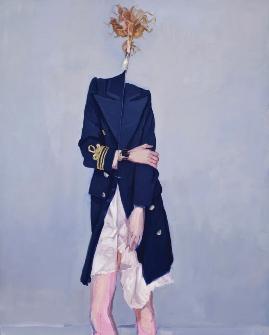 Folding Woman, 2009, oil on canvas, 168 x 135 cm