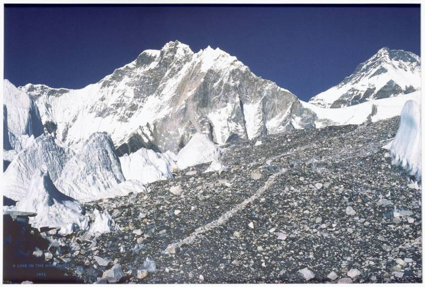 A Line in the Himalayas 1975, printed 2004 Richard Long born 1945 Presented by the artist (Building the Tate Collection) 2005 http://www.tate.org.uk/art/work/T12035