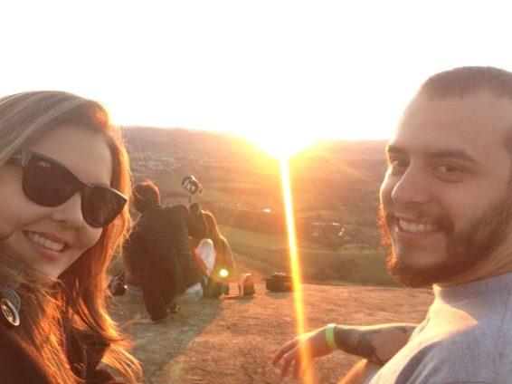 Pôr do sol da Pedra Bela Vista - Foto: ExperiMenteSP