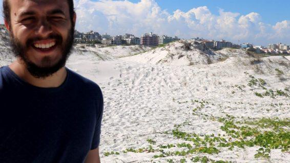 Felipe na Praia das Dunas - Foto: ExperimenteSP