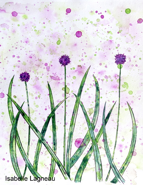 La simplicité de l'herbe et des fleurs