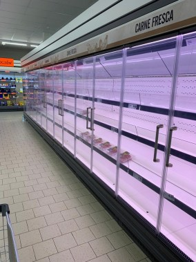 Food shortages in supermarkets