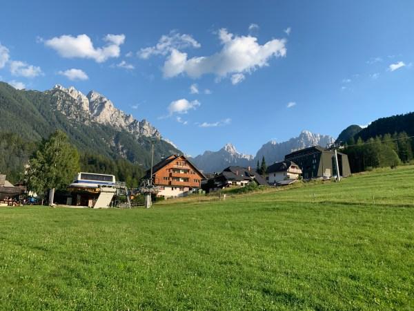 View of the mountains from Kranjska Gora