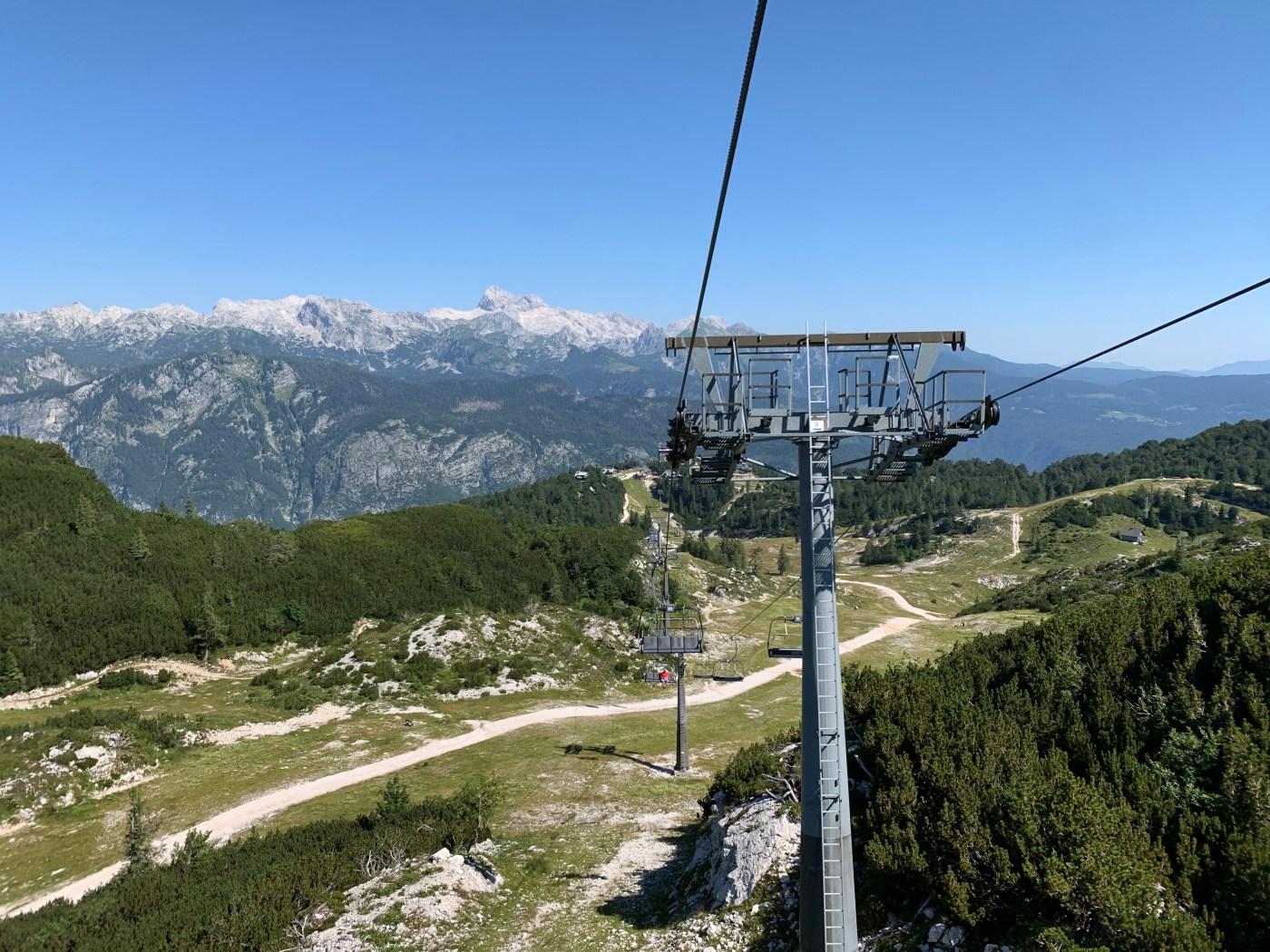 Vogel Ski Centre with Triglav in the distance