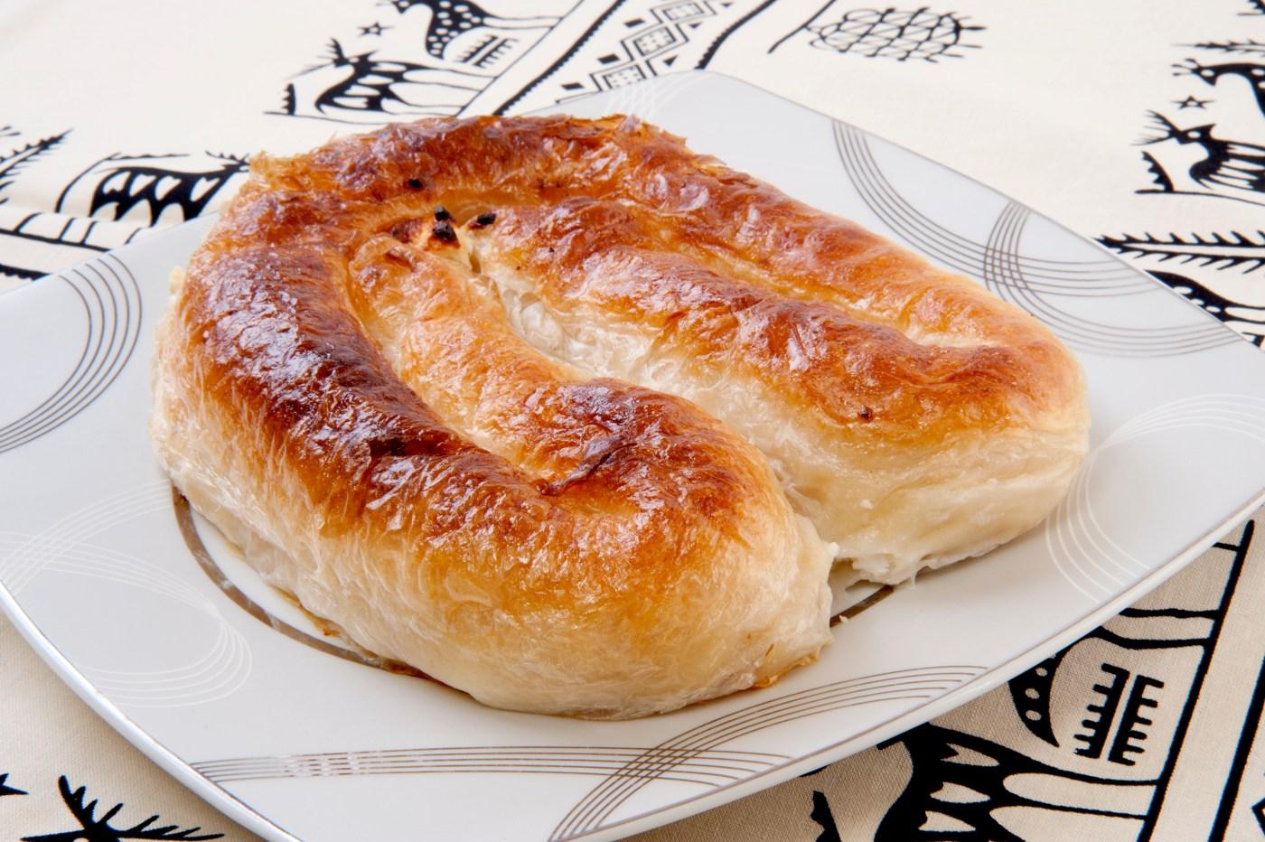 Filled pastry. burek