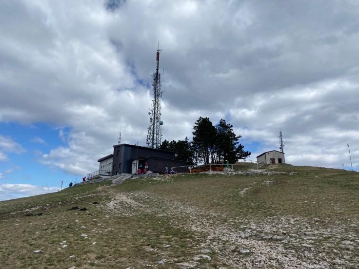 antenna on mountain top