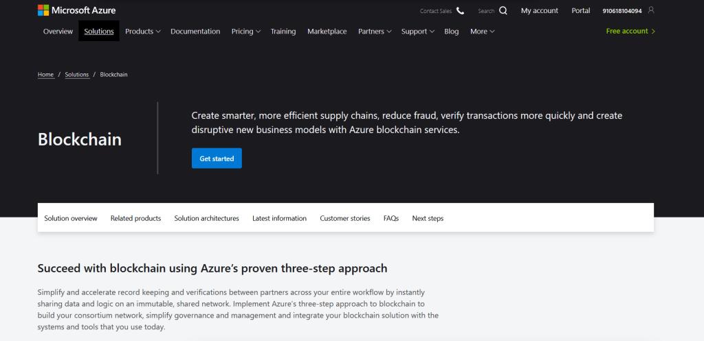 Microsoft Azure Blockchain Platform