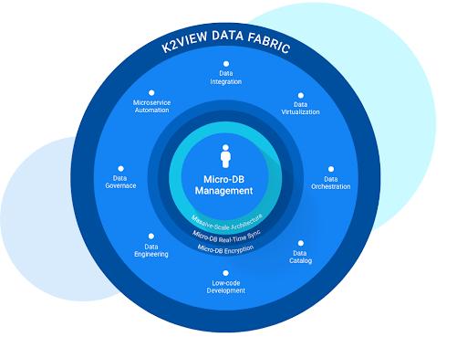 K2view Data Fabric Microdatabase Management