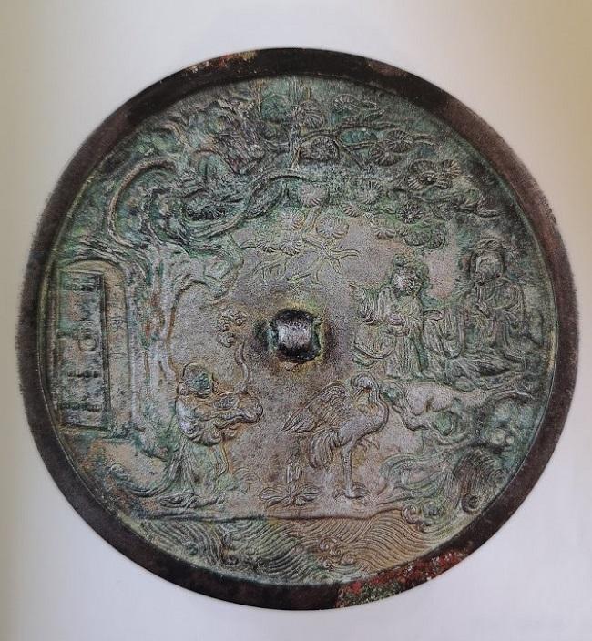 Beau miroire en bronze