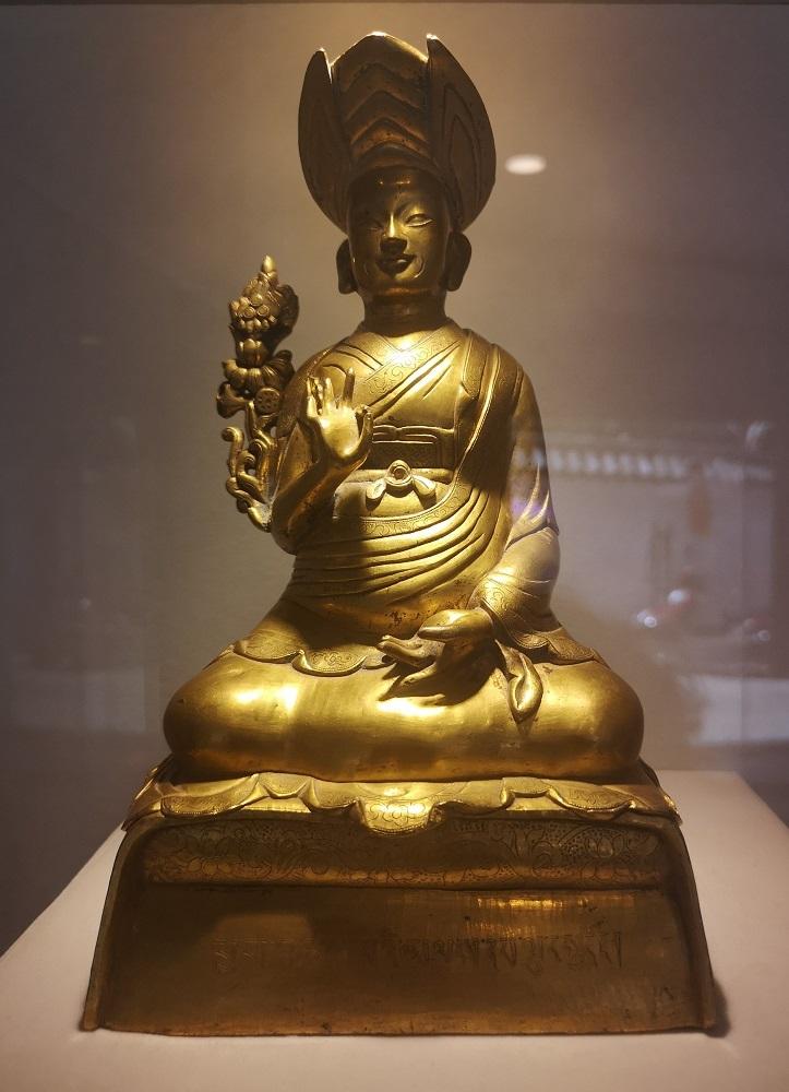 Bronze doré chinois.