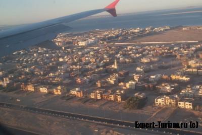 Хургада, Египет, под крылом самолета