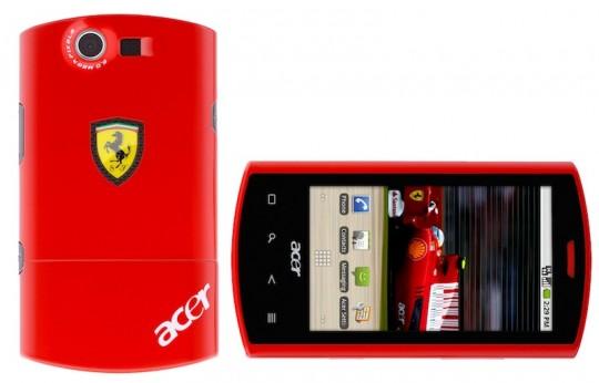 Acer Liquid EAcer Liquid E Ferrari - эксклюзивный смартфон на Android 2.1