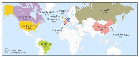 Географическое распространение спама