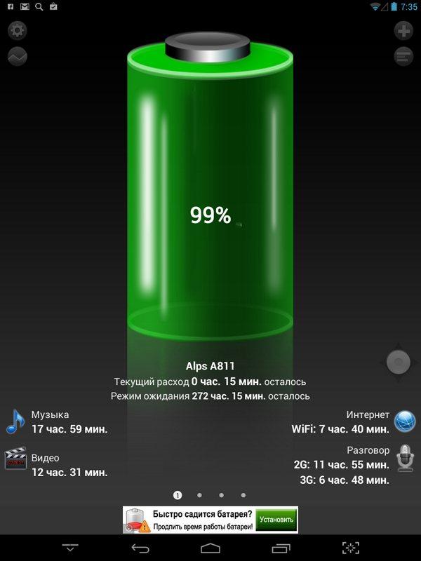 Lexand A811 battery