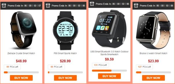 смарт-часы в GearBest