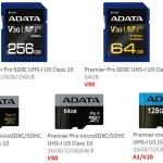 Карты памяти SD ADATA Premier и Premier Pro поддерживают стандарты A1 и V10/V30