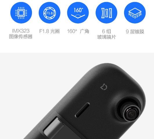Xiaomi Mi Smart Rearview Mirror Recorder камера