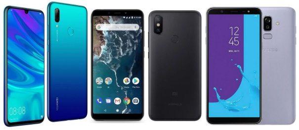 Huawei P Smart 2019, Xiaomi Mi A2, Samsung Galaxy J8 2018