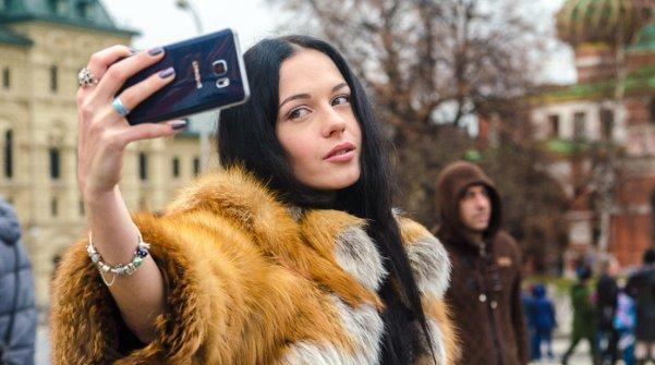 селфи камера девушка