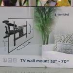 Gembird WM-70RT-01 – мощный кронштейн для 70-дюймовых телевизоров с разворотом на 100 градусов