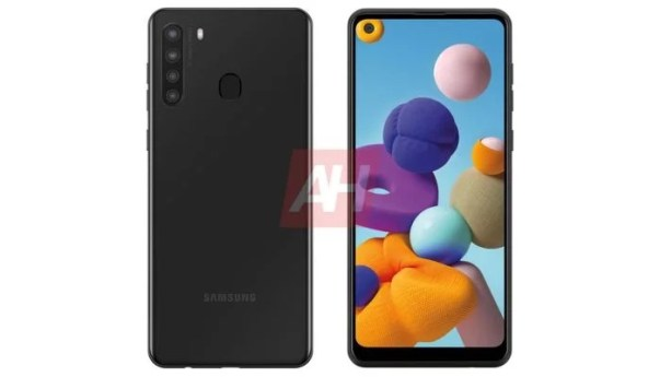 Samsung Galaxy A21 render