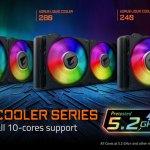 AORUS LIQUID COOLER обеспечивает возможность всем ядрам Intel Core i9 10900K работать на частоте 5,2 ГГц