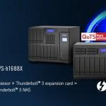 Гибридные NAS TVS‑h1288X и TVS‑h1688X с опцией добавления портов Thunderbolt 3 от QNAP