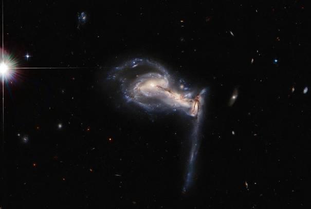 Три сталкивающиеся галактики