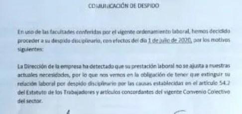 la importancia de la carta de despido expert abogados antonio silva
