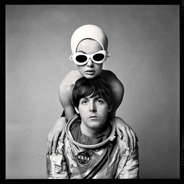 Portrait de Richard Avedon de Paul McCartney et Jean Shrimpton