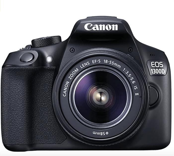 a photo of a Canon 1300D camera