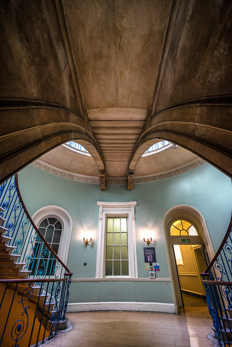 Image of Somerset House London interior with wide angle distortions