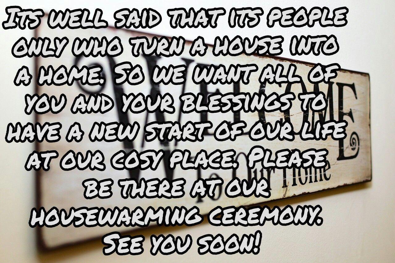 housewarming ceremony invitation