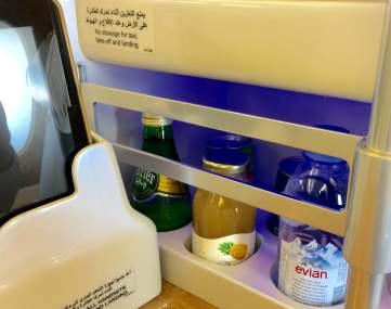 Emirates bus Class personal bar