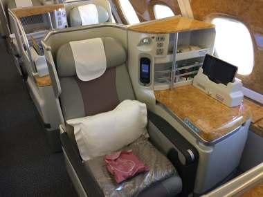 Emirates bus Class seat 1
