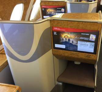 Emirates bus Class seat 2