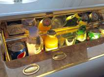 Emirates First Class personal bar