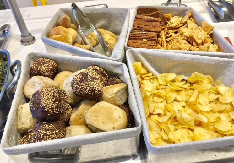 AA-Flagship-Lounge-buffet-breads-round-world-trip
