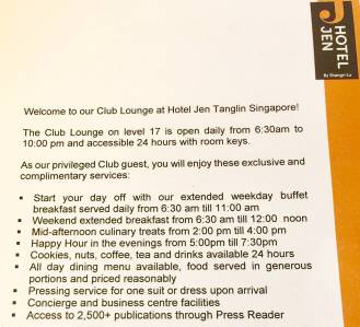 club lounge offer
