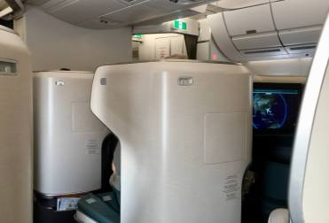 Cathay-Pacific-Business-Class-privacy-view-from-seat-round-world-trip