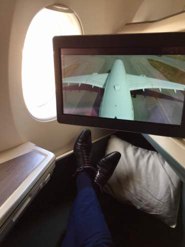 Cathay-Pacific-Business-Class-tail-camera-view-taxiing-round-world-trip