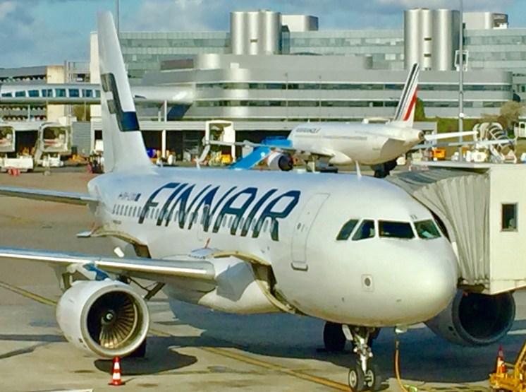Finnair-Europe-flights-A319-ParisCDG-Airport-round-world-trip