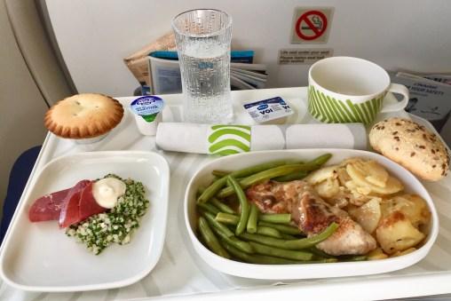 Finnair-Europe-flights-lunch-tray-round-world-trip