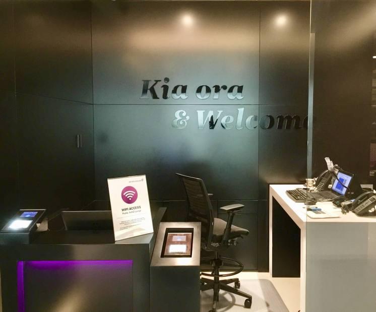 Air-New-Zealand-lounge-Brisbane-reception-Kia-Ora