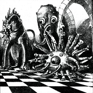 Astounding Stories June 1938. Shadow Out of Time by HP Lovecraft. Illustration by H. Brown.