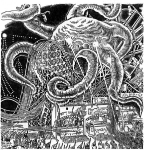 Thrilling Wonder Stories, March 1941 Robert Arthur author Wallace Saaty Illustrator